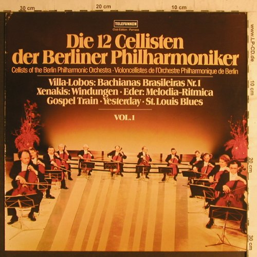 12 Cellisten der Berliner Philharm.: Vol.1, Club-Edition, Telefunken(38 171 5), D, 1978 - LP - K9346 - 6,00 Euro