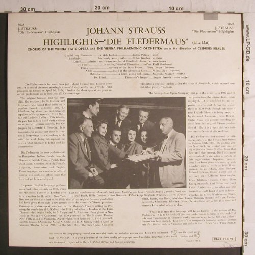 Strauss,Johann: Die Fledermaus(TheBat),highlights, London ffrr(5023), UK/US,  - LP - K9414 - 9,00 Euro