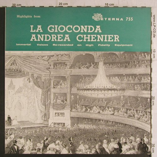 Chenier,Andrea: La Gioconda-Highlight from, Eterna(755), US,  - LP - K9420 - 7,50 Euro