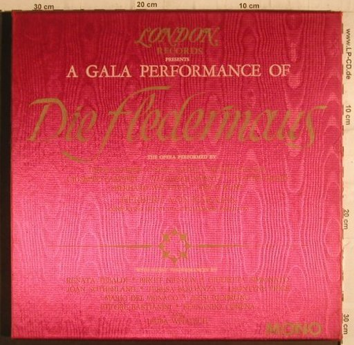 Strauss,Johann: Die Fledermaus, A Gala, Box, London ffrr(A 4347), UK/US,  - 3LP - K9426 - 30,00 Euro