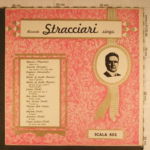 Stracciari,Riccardo: Sings, Scala Record(yellow)(802), US,  - LP - K9450 - 6,00 Euro