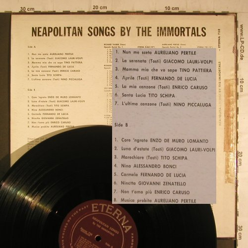 V.A.Neapolitan Songs by t.Immortals: Aureliano Pertile,Lauri-Volpi..,toc, Eterna(728), US,vg+/vg-,  - LP - K9524 - 4,00 Euro