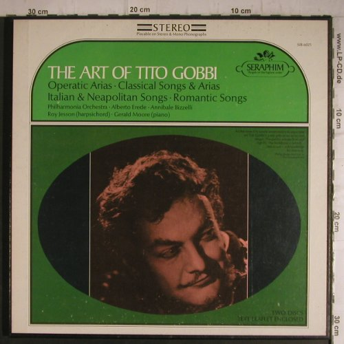 Gobbi,Tito: The Art of, Box-Operatic Arias, Seraphim(SIB-6021), US,vg+/m-,  - 2LP - K9540 - 6,00 Euro