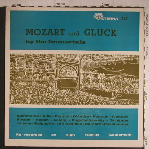 V.A.Mozart and Gluck: by the Immortals, Eterna(757), US,  - LP - K9558 - 7,50 Euro
