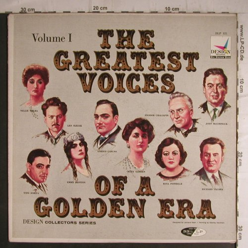 V.A.The Greatest Voices Vol.1: Of A Golden Era, Design(DLP 121), US,  - LP - K9587 - 6,00 Euro