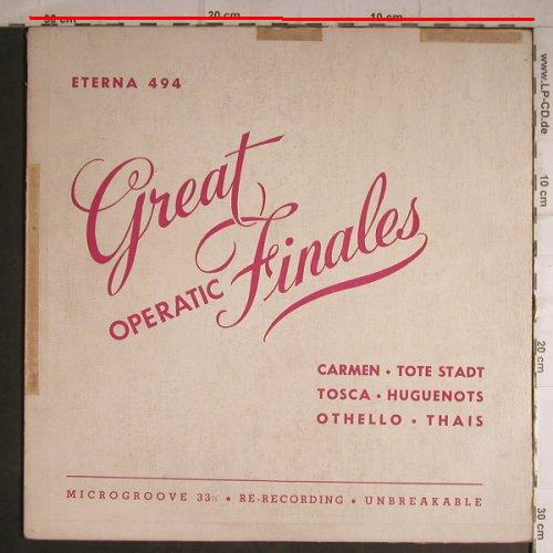 V.A.Great Operatic Finales: Carmen,Tote Stadt,Tosca.., toc, Eterna(494), US,m/ vg--,  - LP - K9588 - 4,00 Euro