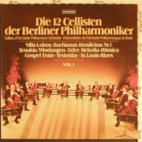 12 Cellisten der Berliner Philharm.: Vol.1, Telefunken(6.42339 AW), D, 1978 - LP - K9836 - 6,00 Euro