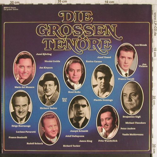 V.A.Die Grossen Ten�re: 27 Tr.,Foc-Caruso...Vernon Midgley, Sonocord(26 011-7), D,  - 2LP - K9860 - 6,00 Euro