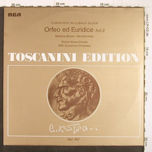 Gluck,Christoph Willibald: Orfeo ed Euridice Act 2 '54, Ri, RCA Toscanini Edition(AT 127), D, 1954 - LP - K9900 - 4,00 Euro