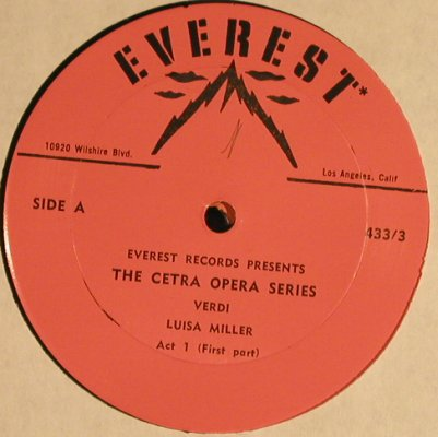 Verdi,Giuseppe: Luisa Miller,Box,  No Booklet, Everest(S 433/3), US,  - 3LP - K9942 - 7,50 Euro