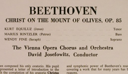 Beethoven,Ludwig van: Christ on the Mount of Olives, Concert Hall(SMSC 2550), UK,  - LP - L1107 - 5,00 Euro