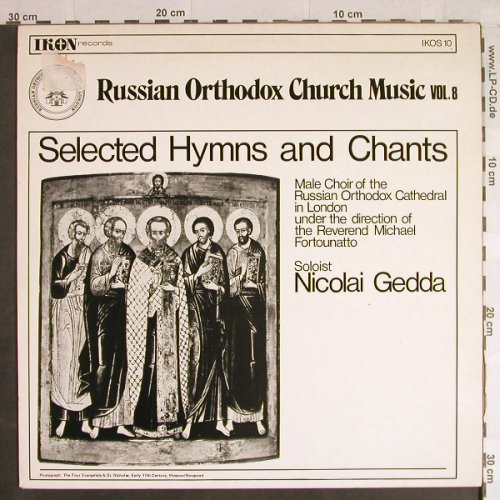 V.A.Russian Orthodox Church Music: Vol.8-Selected Hymns and Chants, IKON Rec.(IKOS 10), UK,  - LP - L1157 - 5,00 Euro
