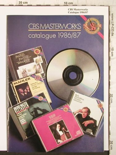 V.A.CBS Masterworks: Catalogue 1986/87, CD's+LP's, CBS(), , 1986 - LP - L124 - 4,00 Euro