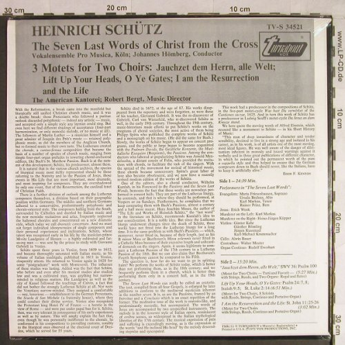 Schütz,Heinrich: The seven last Words of Christ fr.., Turnabout Vox(TV-S 34521), US, FS-New, 1972 - LP - L1348 - 12,50 Euro