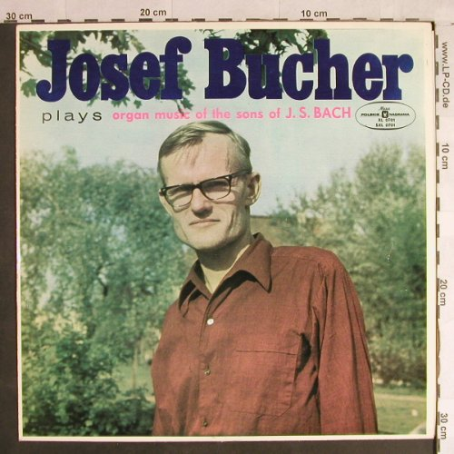 Bucher,Josef: Organ Music Of The Sons Of J.S.Bach, Muza(SXL 0701), PL,  - LP - L1380 - 5,00 Euro