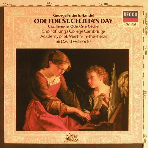 Händel,Georg Friedrich: Ode for St.Cecilia's Day, Decca Serenata(6.42754 BH), D, Ri, 1982 - LP - L1452 - 6,00 Euro