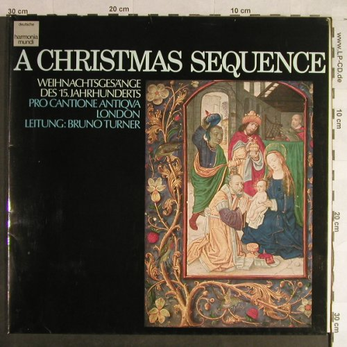 Pro Cantione Antiqva, London: A Christmas Sequence, Foc, Harmonia Mundi(065-99 808), D, 1975 - LP - L1507 - 6,00 Euro