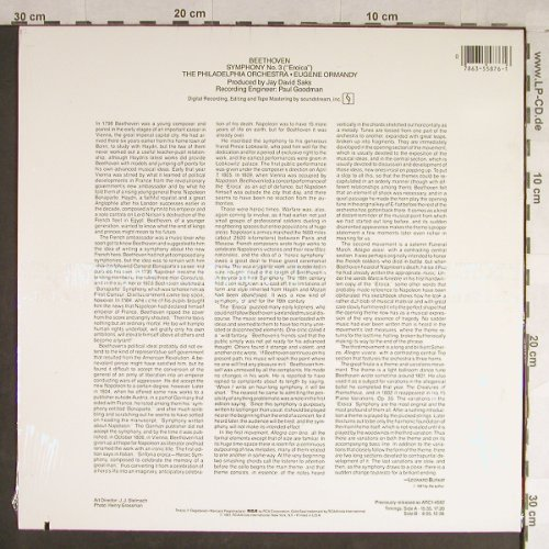 Beethoven,Ludwig van: Sinfonie Nr.3 -Eroica, FS-New, RCA Gold Seal(AGL1-5876), US, co, 1981 - LP - L1708 - 9,00 Euro