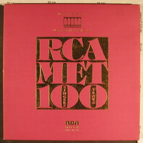 V.A.RCA / MET: 100 Singers / 100 Years, Box, RCA Red Seal(RL 85177), I, 1984 - 8LP - L1717 - 25,00 Euro