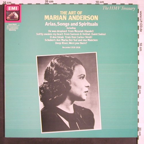 Anderson,Mariah: Arias,Songs And Spirituals,Foc, EMI(EG 29 0016 1), UK, 1986 - LP - L175 - 7,50 Euro