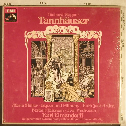 Wagner,Richard: Tannhäuser(1930),Box, FS-New, EMI(137-03 130/32), D,  - 3LP - L1813 - 20,00 Euro