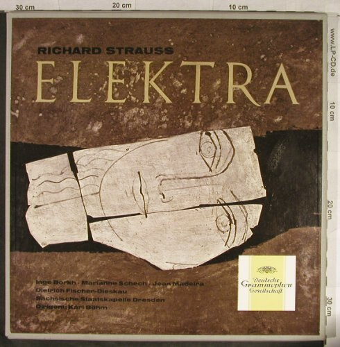 Strauss,Richard: Elektra, Box, Libretto, D.Gr.(18 690/91), D,Mono, 1961 - 2LP - L1853 - 14,00 Euro