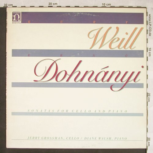Weill,Kurt / Ernö Dohnanyi: Sonatas For Cello & Piano, m-/vg+, Nonesuch(D-79016), US, 1981 - LP - L1904 - 4,00 Euro