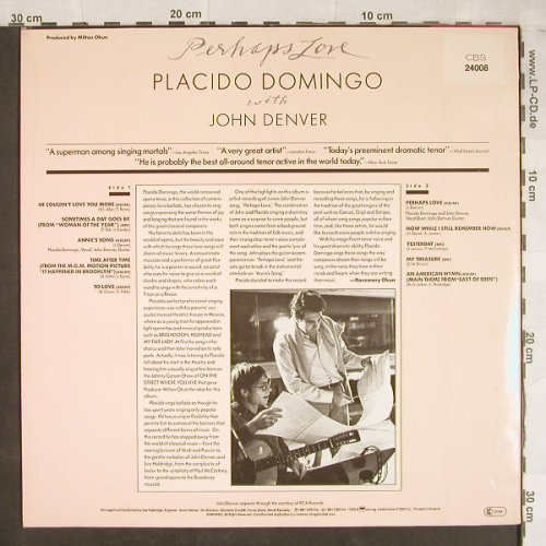 Domingo,Placido: Perhaps Love with John Denver, CBS(24 008), NL, 1981 - LP - L2022 - 5,00 Euro
