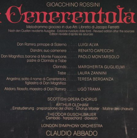 Rossini,Gioacchino: La Cenerentola, Box, FS-New, D.Gr.(2709 039), D, 1971 - 3LP - L2352 - 15,00 Euro