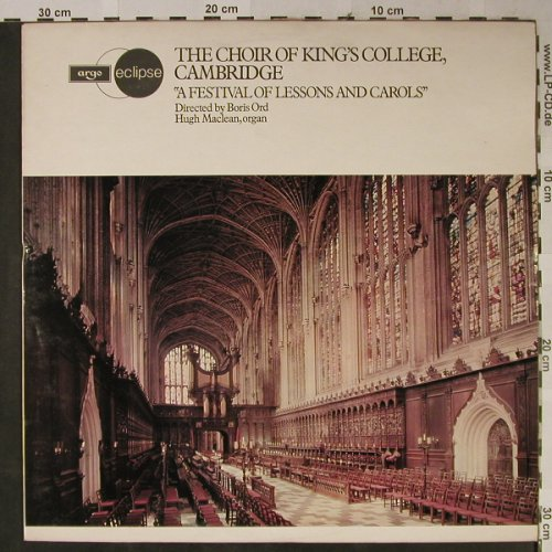 Choir of King's College, Cambridge: A Festival of Lessons and Carols, Argo/Eclipse(ECS 659), UK, Ri, 1954 - LP - L2413 - 6,00 Euro