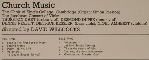 Gibbons,Orlando: Tudor Church Music, Argo(ZK 8), UK, Ri, 1977 - LP - L2421 - 6,00 Euro