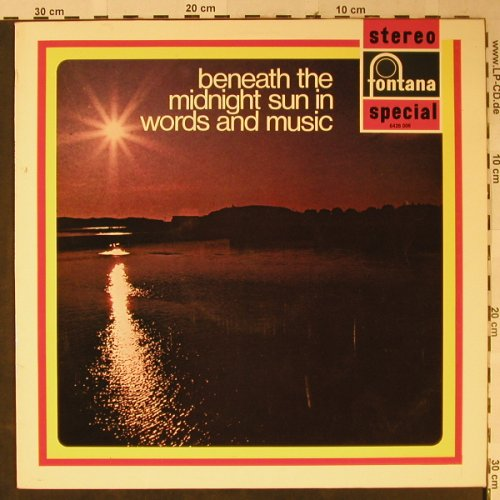 V.A.Beneath the Midnight Sun: in Words and Music, Fontana(6426 006), NL, 1970 - LP - L2424 - 6,00 Euro