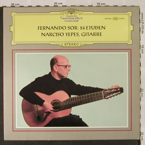 Yepes,Narciso: Fernando Sor: 24 Etüden, VG-/m-, D.Gr.(SLPM 139 364), D,playable, 1968 - LP - L2619 - 5,00 Euro