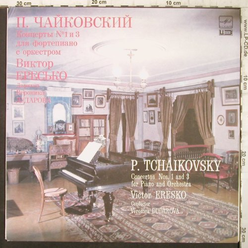 Tschaikowsky,Peter: Concertos Nos.1 and 3,piano&orch., Melodia(A10 00277 009), UDSSR, 1987 - LP - L26 - 5,00 Euro