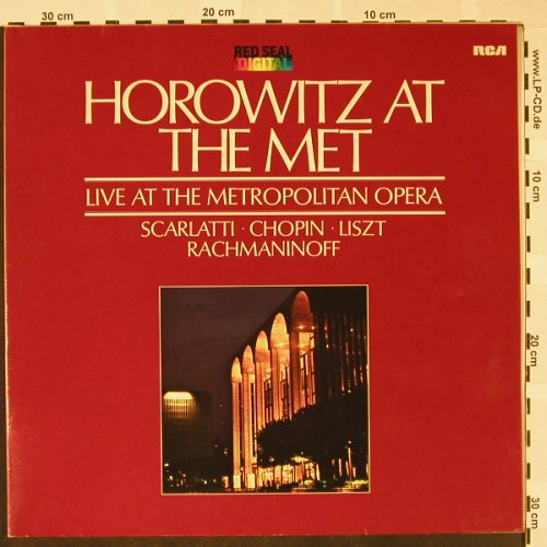 Horowitz,Vladimir: At the Met - Live at, Foc, RCA Red Seal(RL 14260), D, 1982 - LP - L3190 - 6,00 Euro