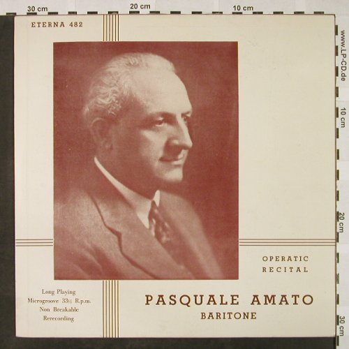 Amato,Pasquale: Operatic Recital, in ital., Eterna(482), US,  - LP - L3215 - 7,50 Euro