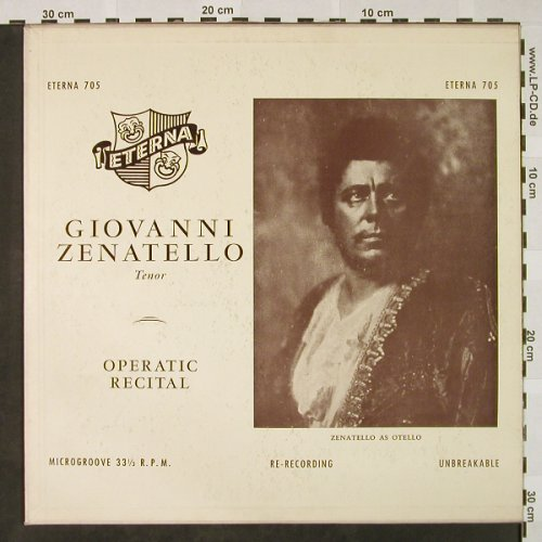 Zenatello,Giovanni: Operatic Recital, (Tenor) vg+/m-, Eterna(705), US,  - LP - L3220 - 5,50 Euro
