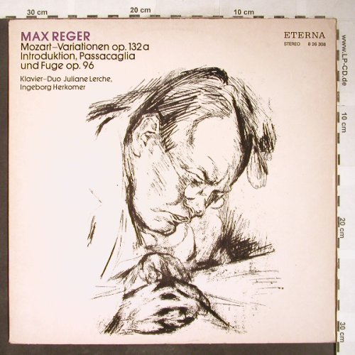 Reger,Max: Mozart-Variationen/Introduktion,Pas, Eterna(8 26 308), DDR, 1973 - LP - L3655 - 6,00 Euro