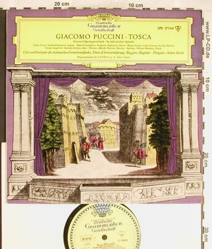 Puccini,Giacomo: Tosca - Gr.Opernquerschn. in ital., D.Gr.(LPE 17 144), D, 1960 - 10inch - L3690 - 7,50 Euro