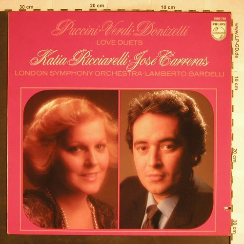 Ricciarelli,Katia / Jose Carreras: Love Duets, Philips(9500 750), NL, co, 1980 - LP - L3741 - 5,00 Euro