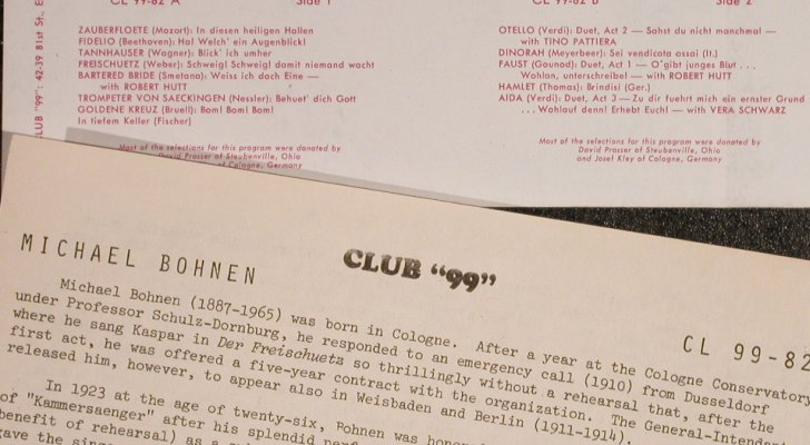 "Bohnen,Michael: Same, Club""99""NY(CL99-82), US,  - LP - L3742 - 6,00 Euro"