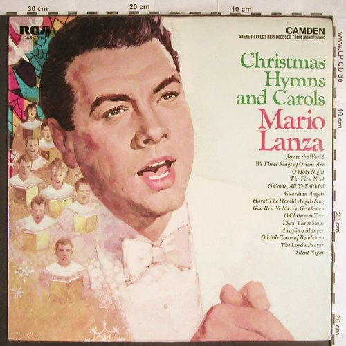 Lanza,Mario: Christmas Hymns and Carols, RCA Camden(CAS-7778(e)), US, FS-New, 1963 - LP - L3748 - 9,00 Euro