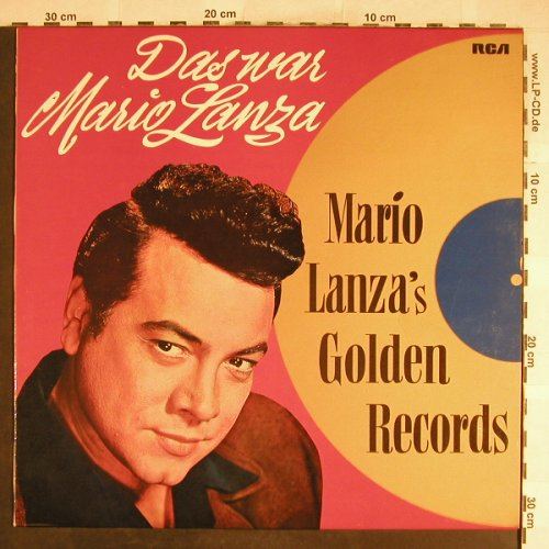 Lanza,Mario: Das war M.L., Golden Records, RCA Victor(26.21109 AS), D,Ri,  - LP - L3750 - 5,00 Euro