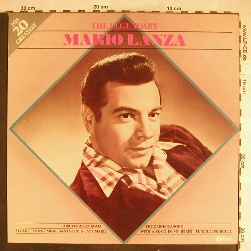 Lanza,Mario: The Legendary, his 20 Greatest, K-tel(NE 1110), B, 1981 - LP - L3754 - 5,00 Euro