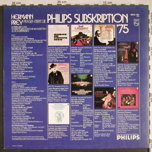 V.A.Philips Subskription 1975: Herman Prey..spoken germ.,Hörproben, Philips(6833 186), D, 1975 - LP - L3817 - 6,00 Euro