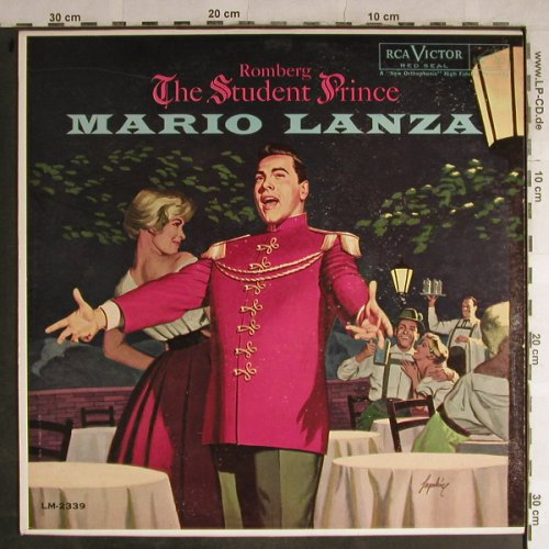 Lanza,Mario: The Student Prince, Romberg, RCA Victor(LM-2339), US, 1960 - LP - L4012 - 12,50 Euro