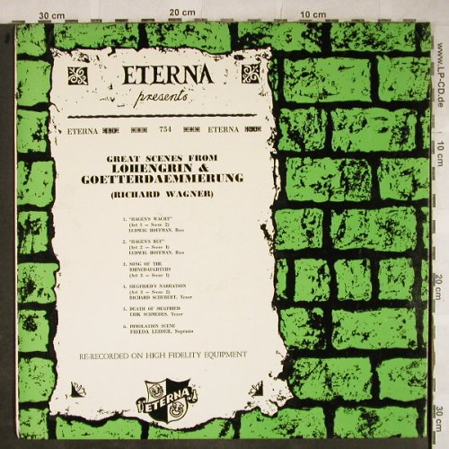 Wagner,Richard: Lohengrin-Great Scenes, Eterna(754), US,  - LP - L4021 - 5,00 Euro