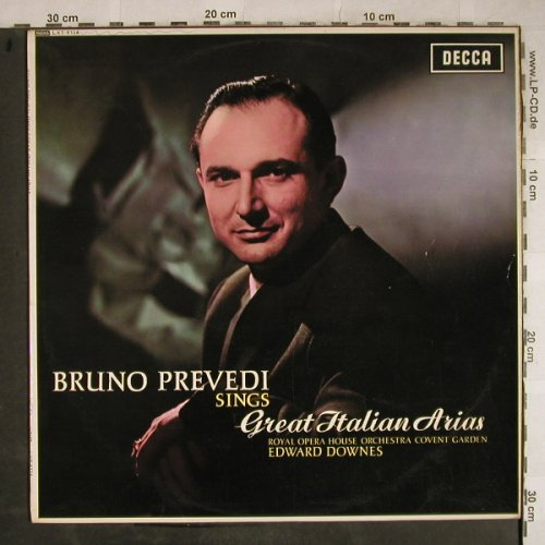 Prevedi,Bruno: Sings Great Italian Arias,Stoc,Stol, Decca(LXT 6114), UK mono, 1964 - LP - L4064 - 9,00 Euro