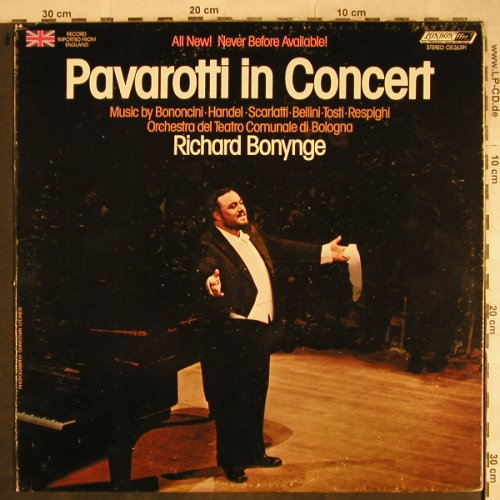 Pavarotti,Luciano: Pavarotti in Concert, m-/vg+, London(OS-26391), UK, 1974 - LP - L4066 - 6,00 Euro