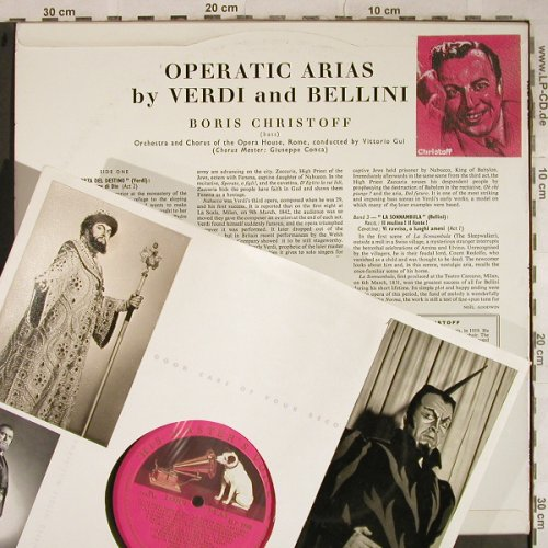 Christoff,Boris: Operatic Arias by Verdi & Bellini, His Masters Voice(ALP 1585), UK,vg+/vg-,  - LP - L4102 - 5,00 Euro